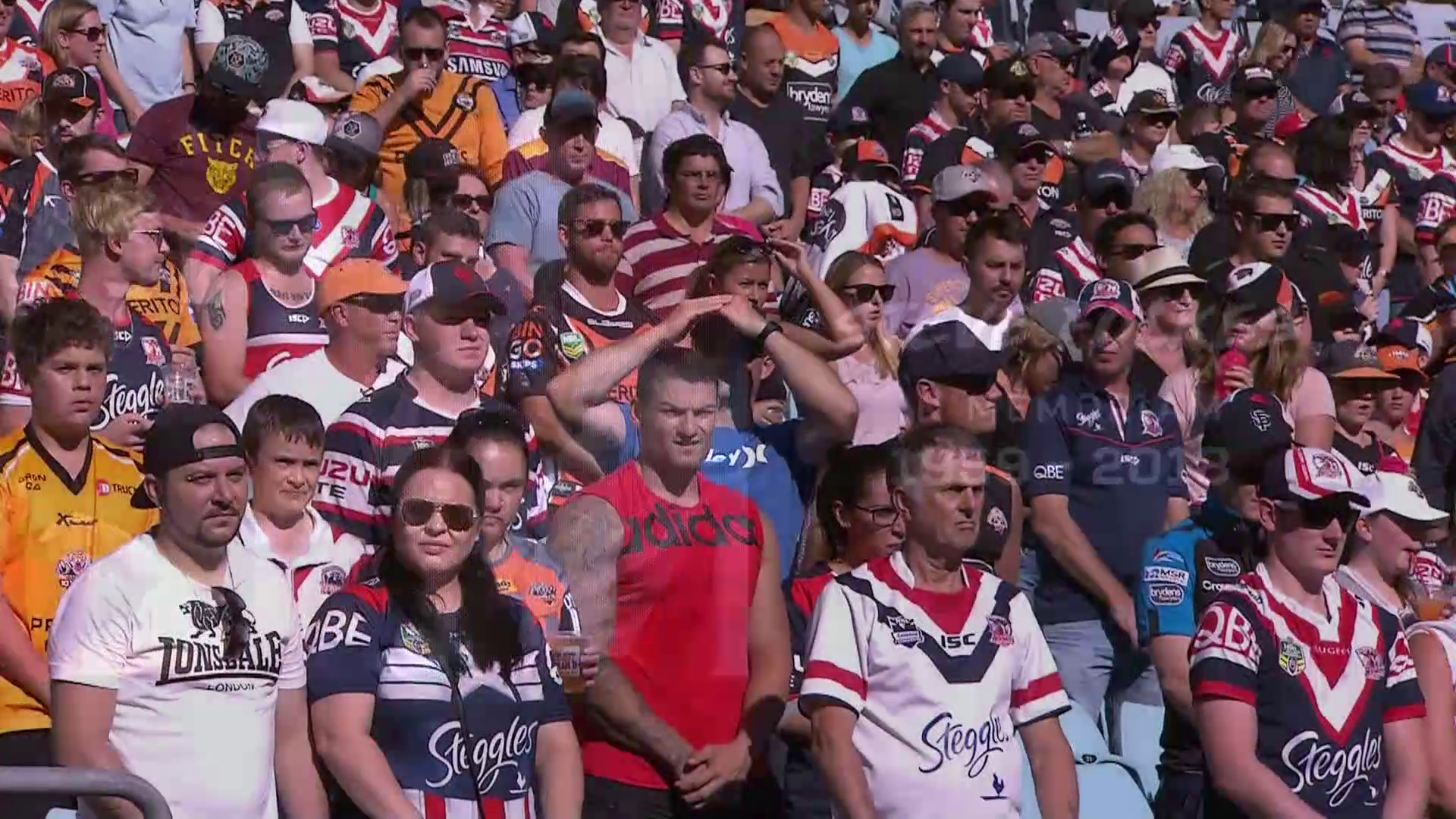 NRL 2018 RD01 Wests Tigers v Roosters