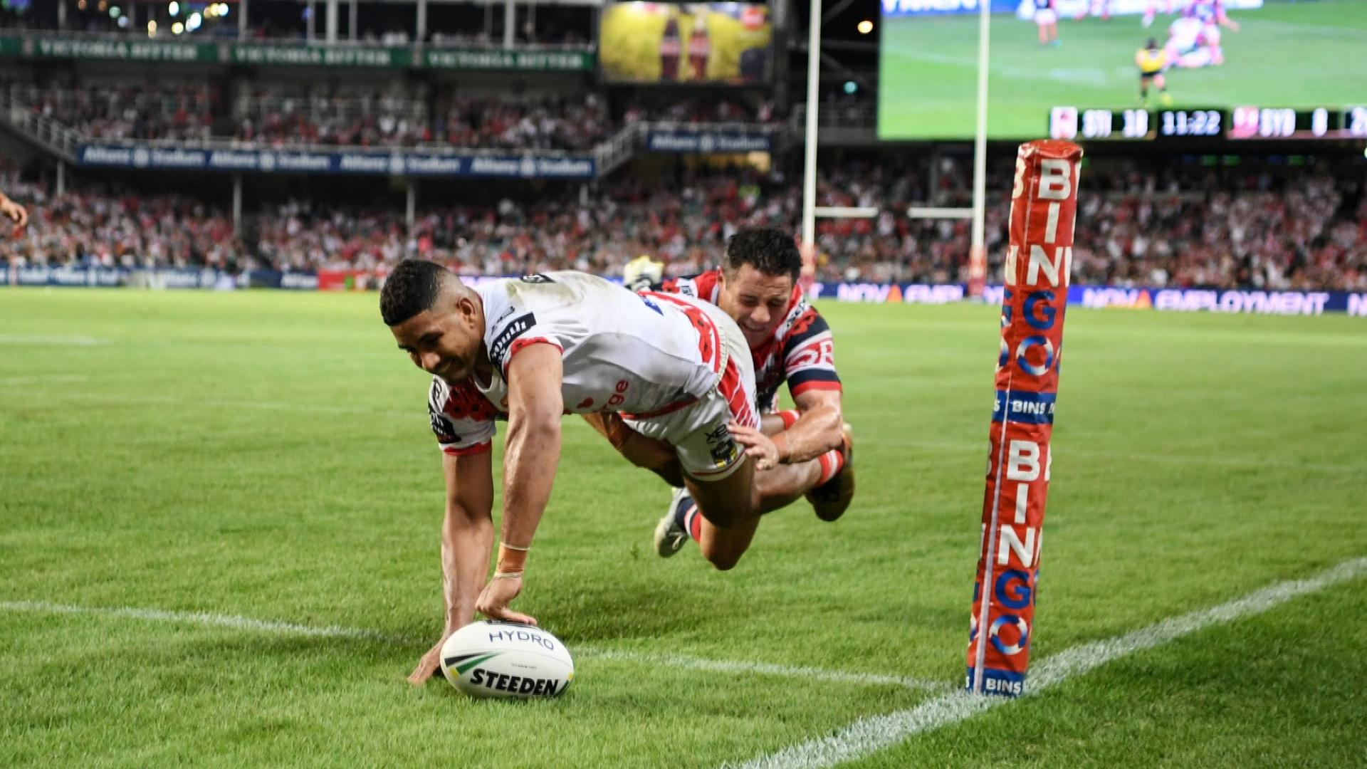 Extended highlights: Dragons v Roosters - Round 8, 2018