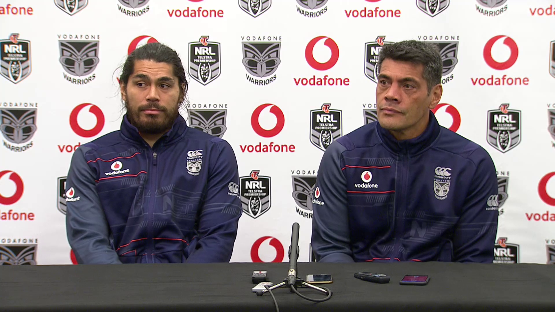 Warriors press conference - Round 12