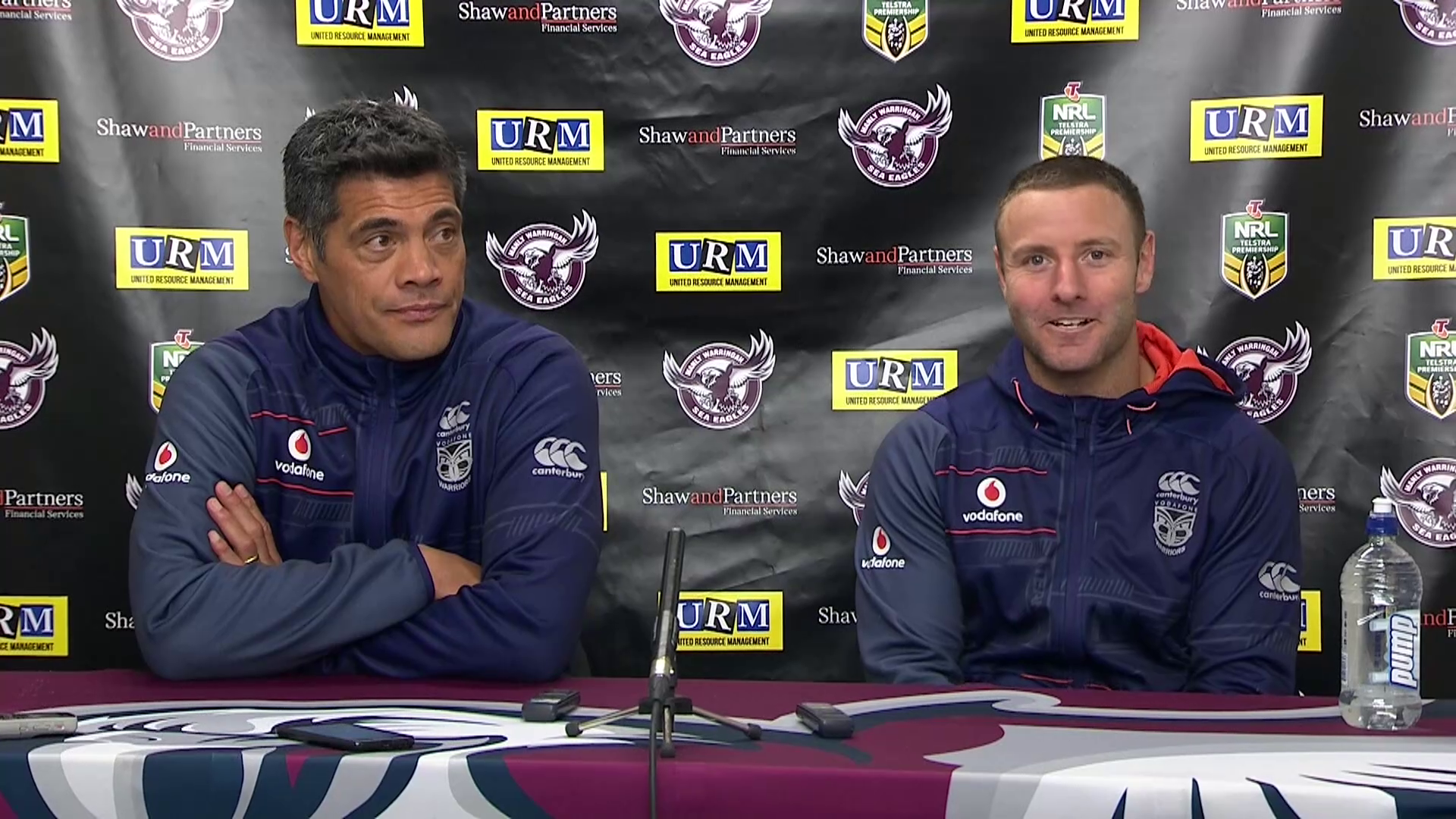 Warriors press conference - Round 14