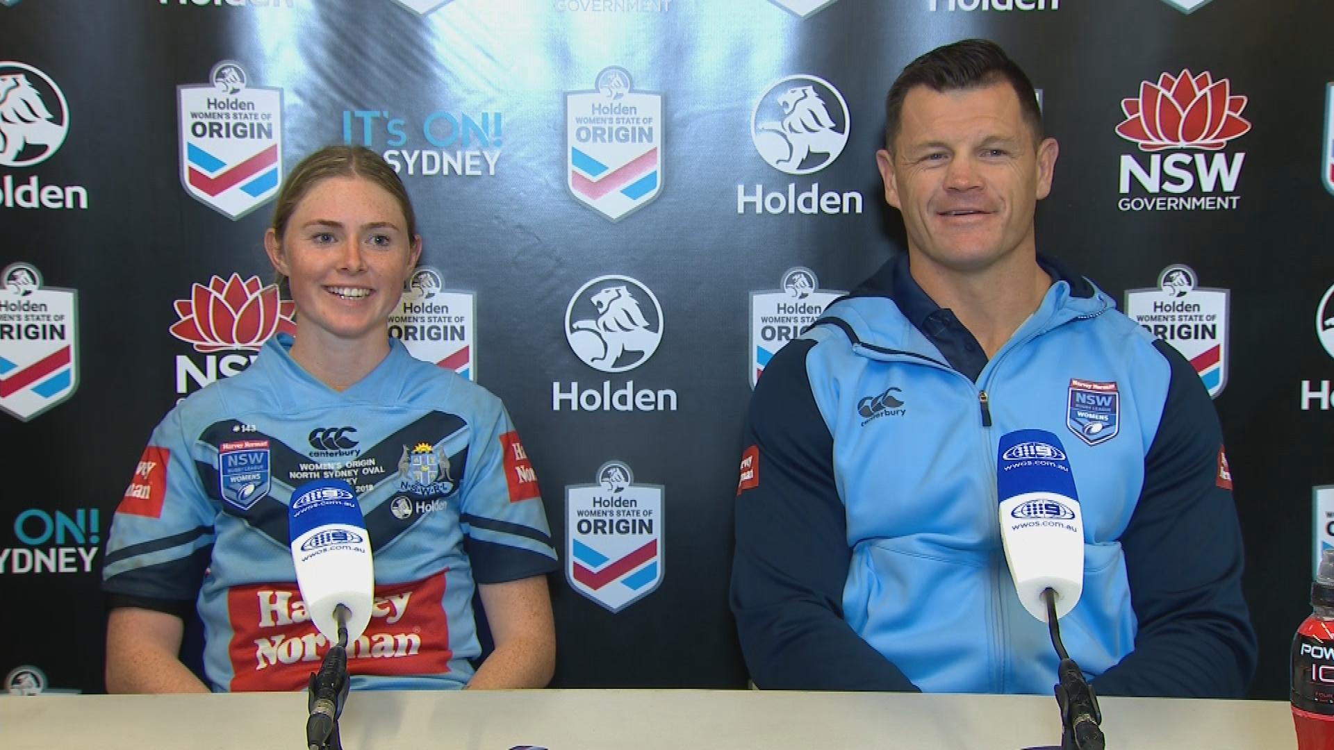 Blues press conference - Women's State of Origin