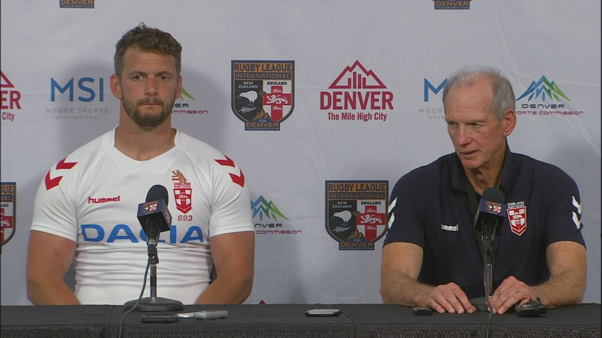 England press conference - Denver Test