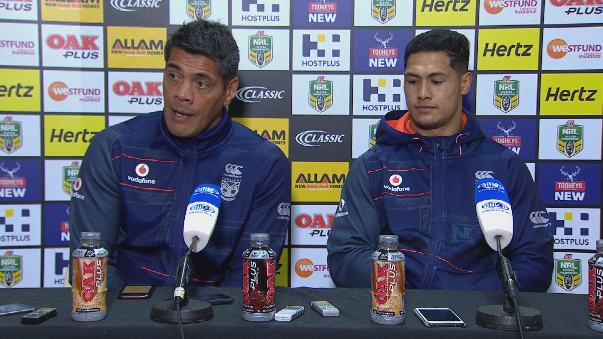 Warriors press conference - Round 17