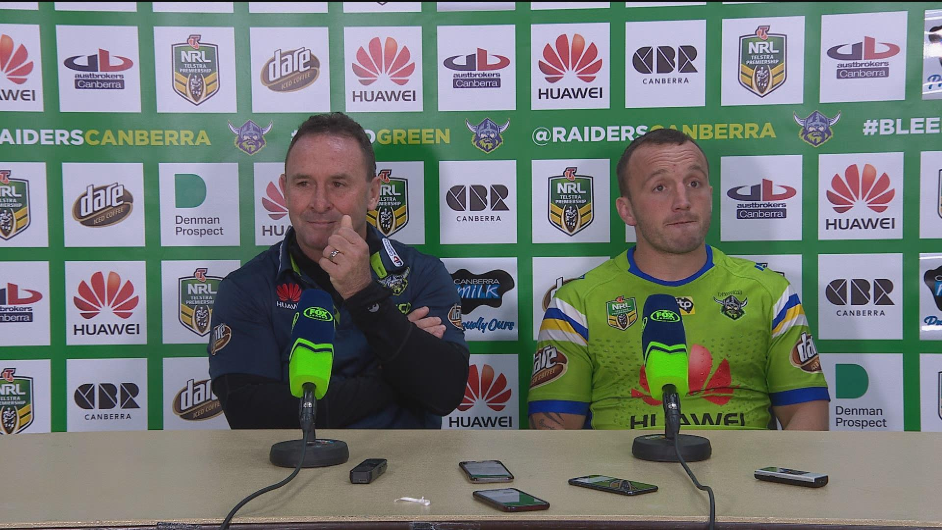 Raiders press conference – Round 18