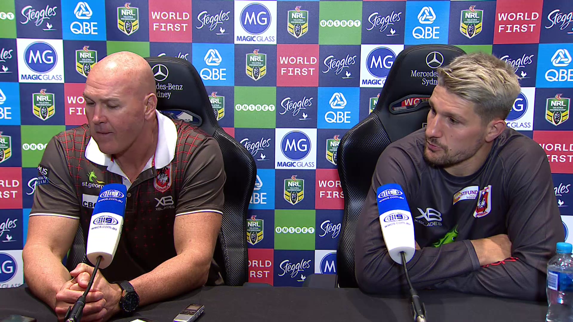 Dragons press conference: Round 20, 2018