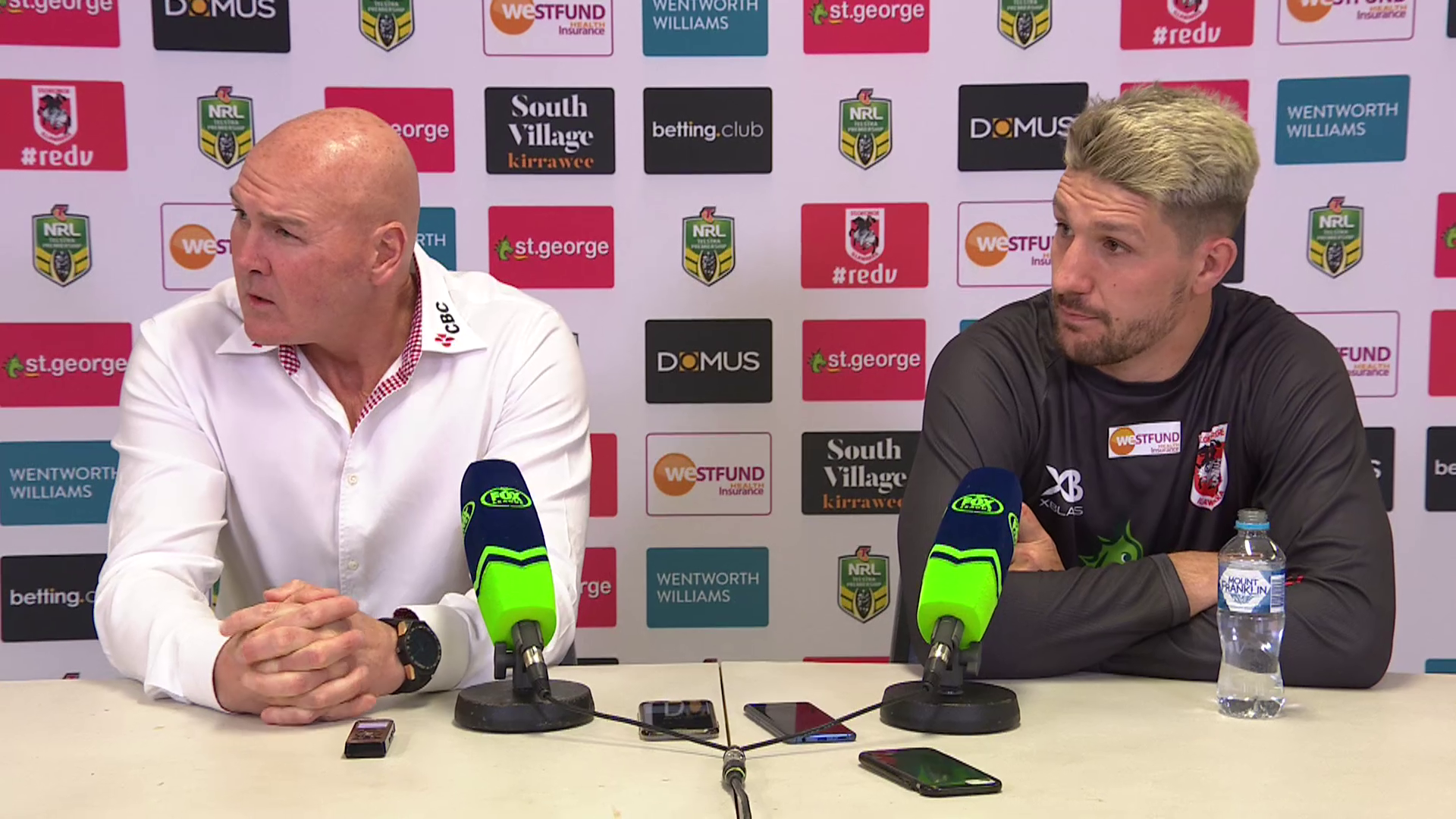 Dragons press conference - Round 21