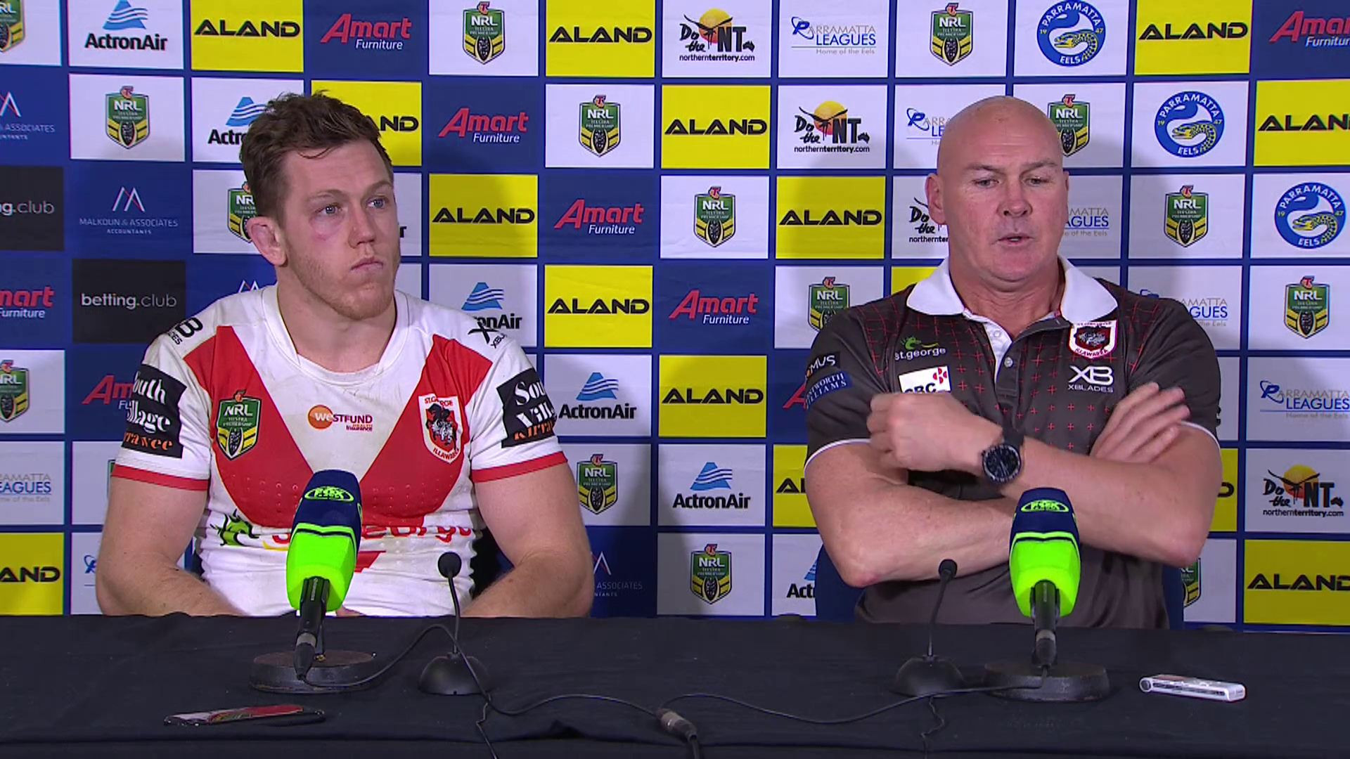 Dragons press conference – Round 22, 2018