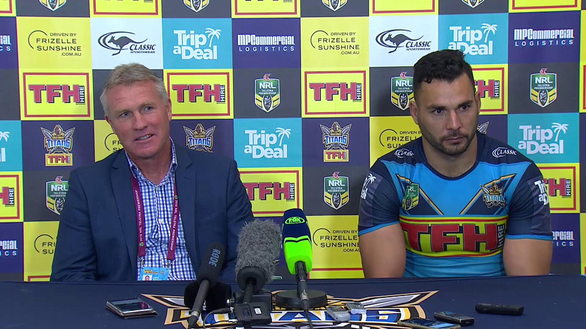 Titans press conference - Round 25