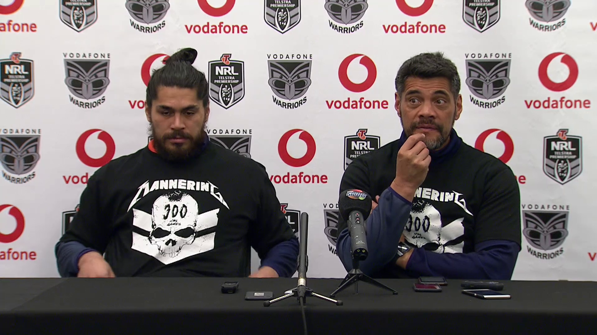 Warriors press conference - Round 25