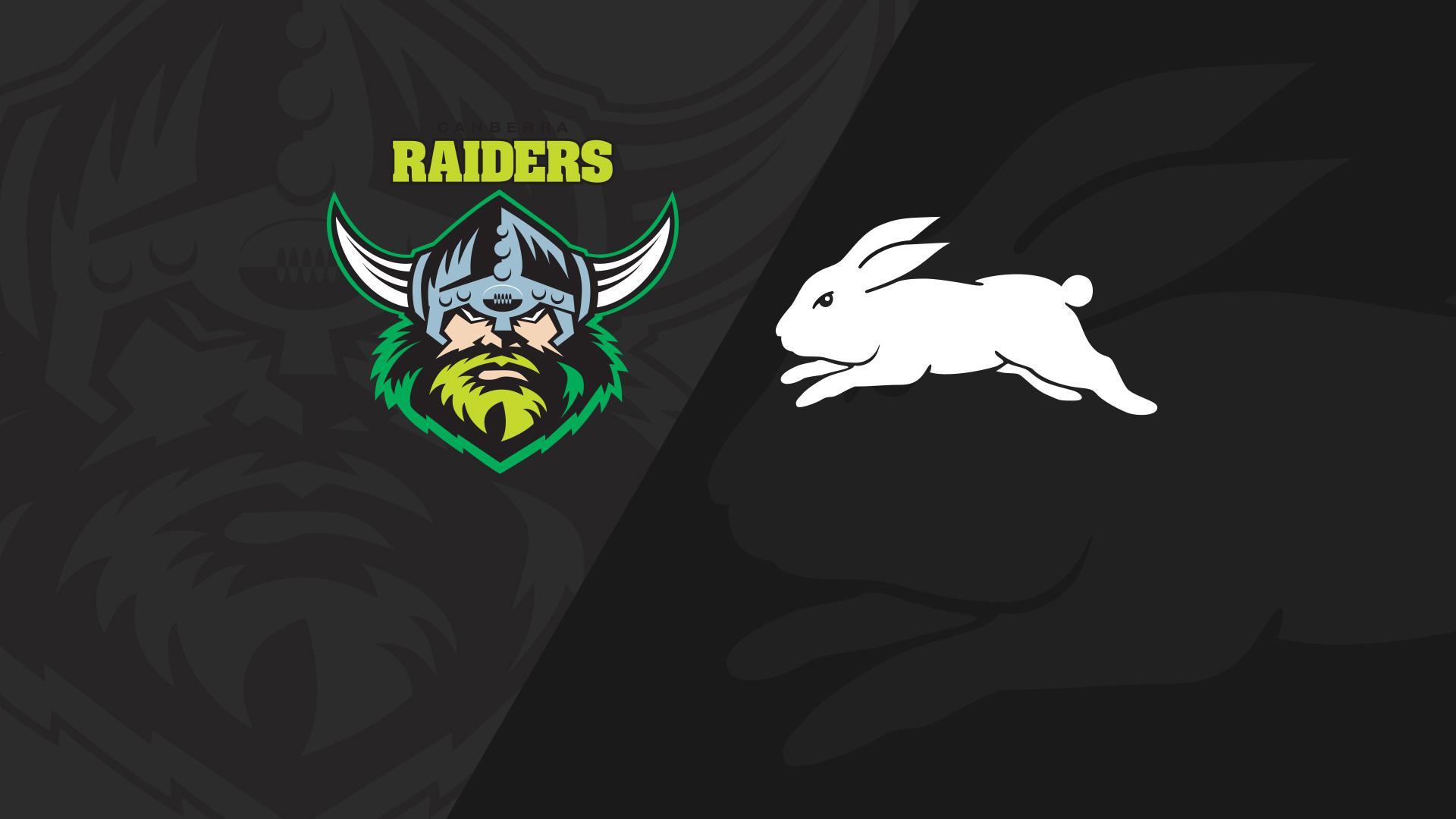 Full Match Replay: Raiders v Rabbitohs - Round 24, 2018