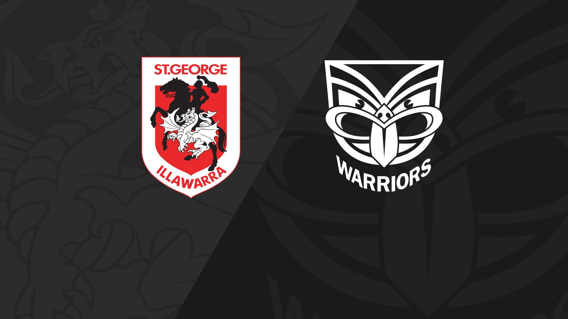 Full Match Replay: Dragons v Warriors - Round 21, 2018