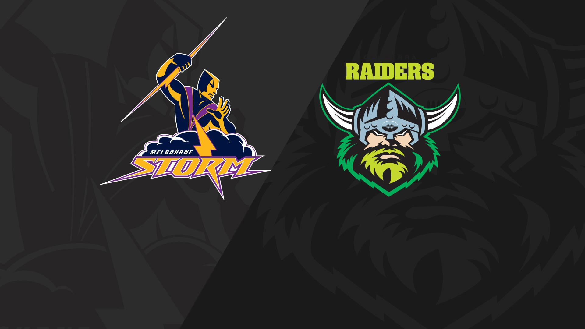 Full Match Replay: Storm v Raiders - Round 20, 2018