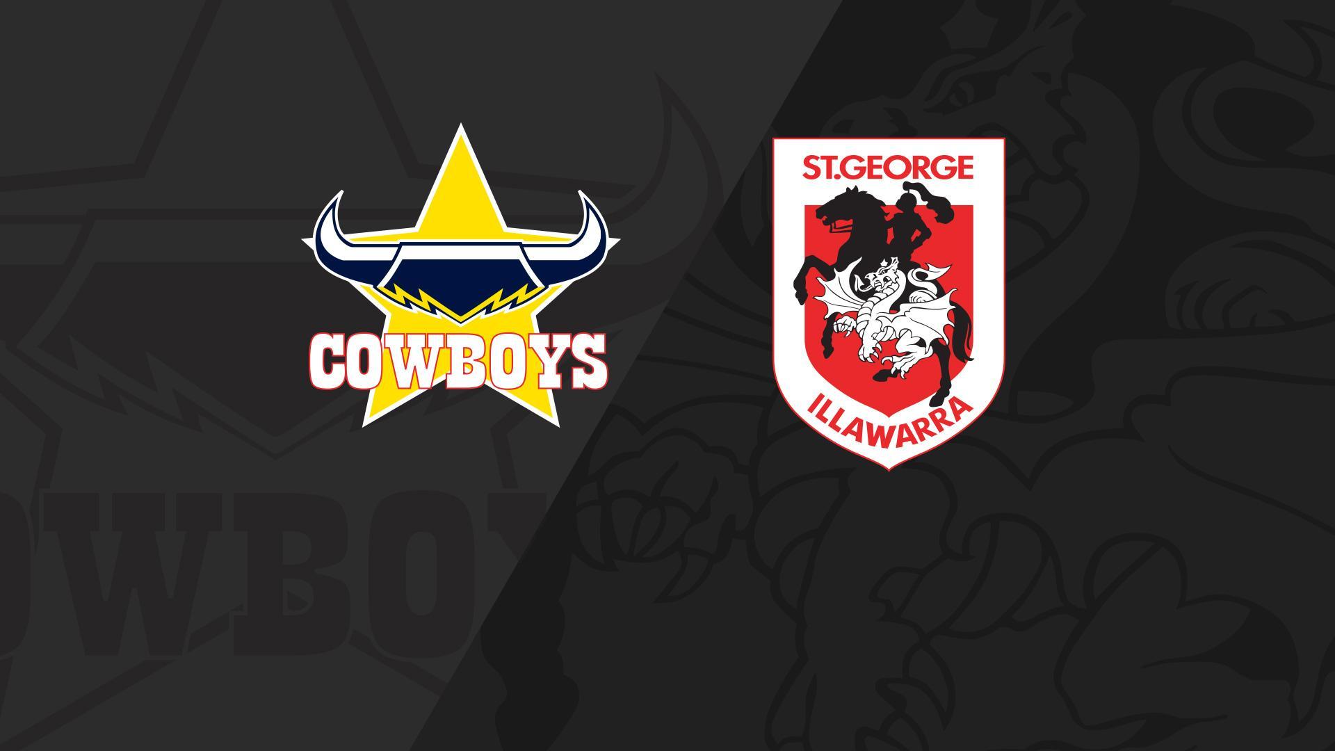 Full Match Replay: Cowboys v Dragons - Round 19, 2018