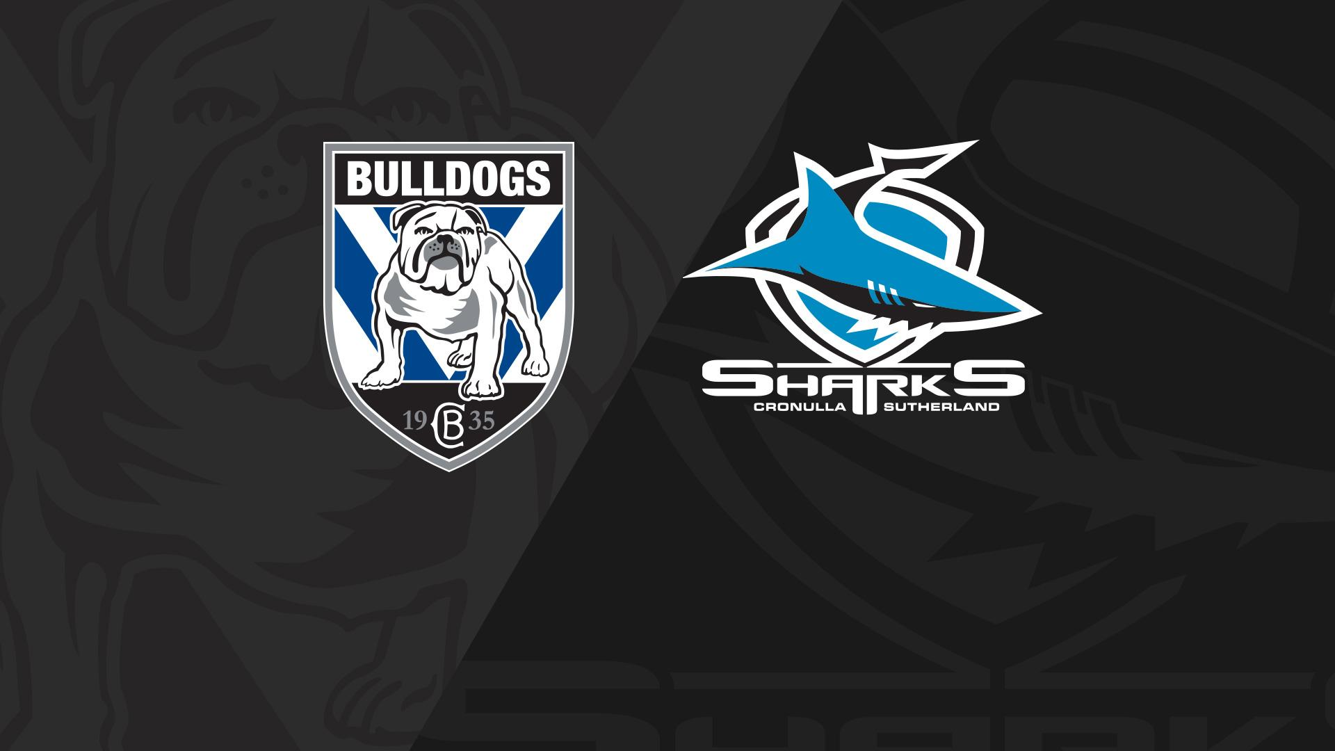 Extended Highlights: Bulldogs v Sharks - Round 25, 2018
