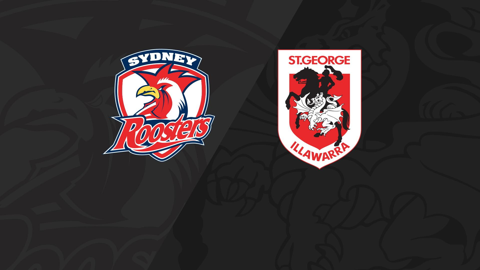 Full Match Replay: Roosters v Dragons - Round 20, 2018