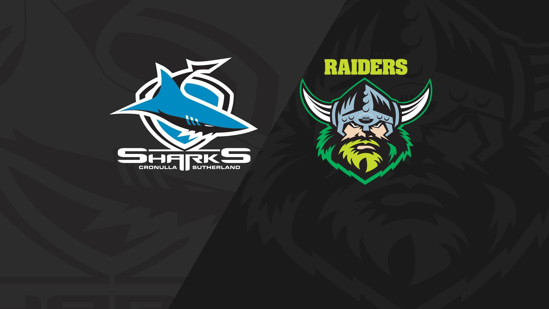Full Match Replay: Sharks v Raiders - Round 19, 2018