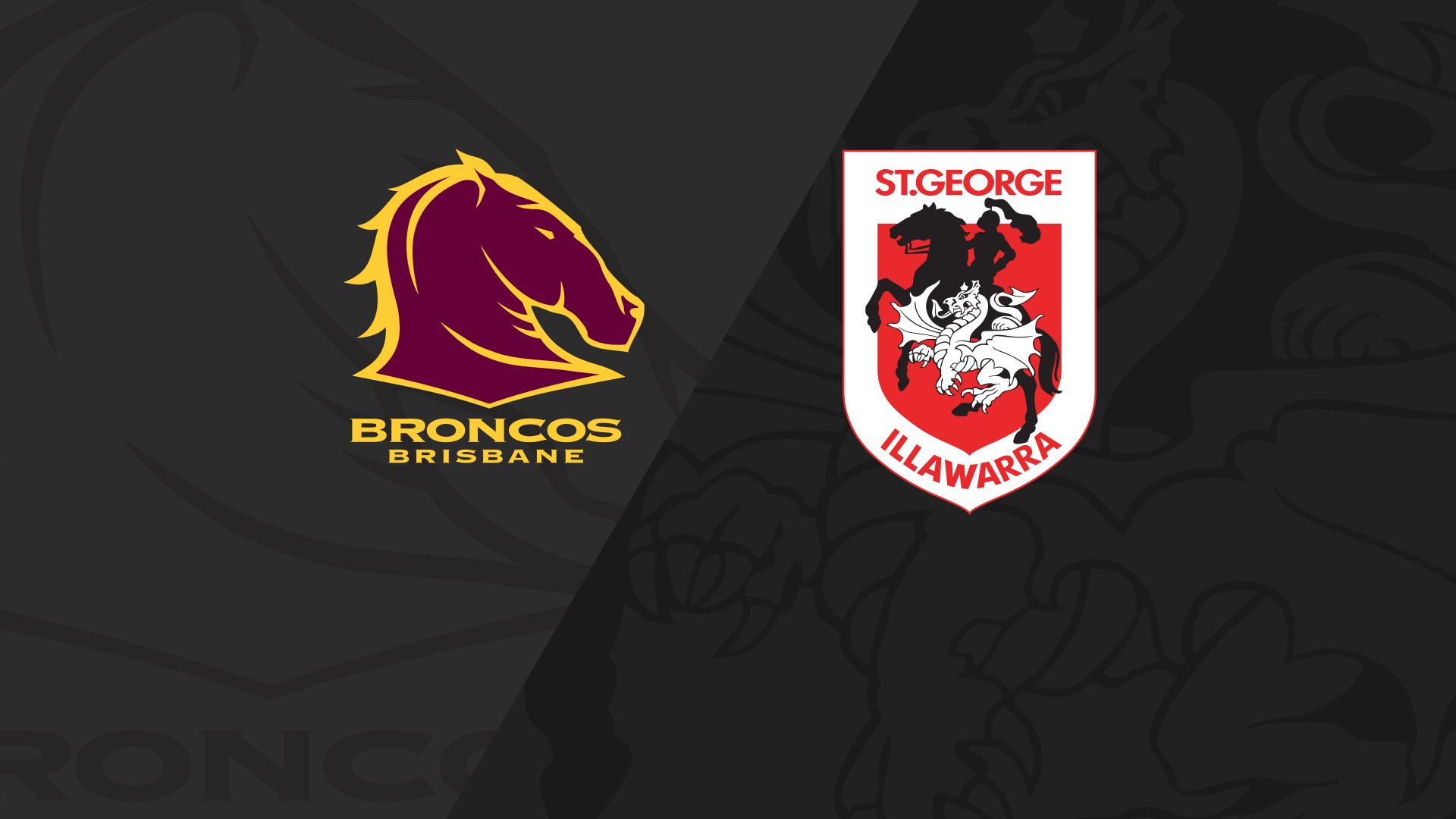 Full Match Replay: NRLW Broncos v Dragons - Round 1, 2018