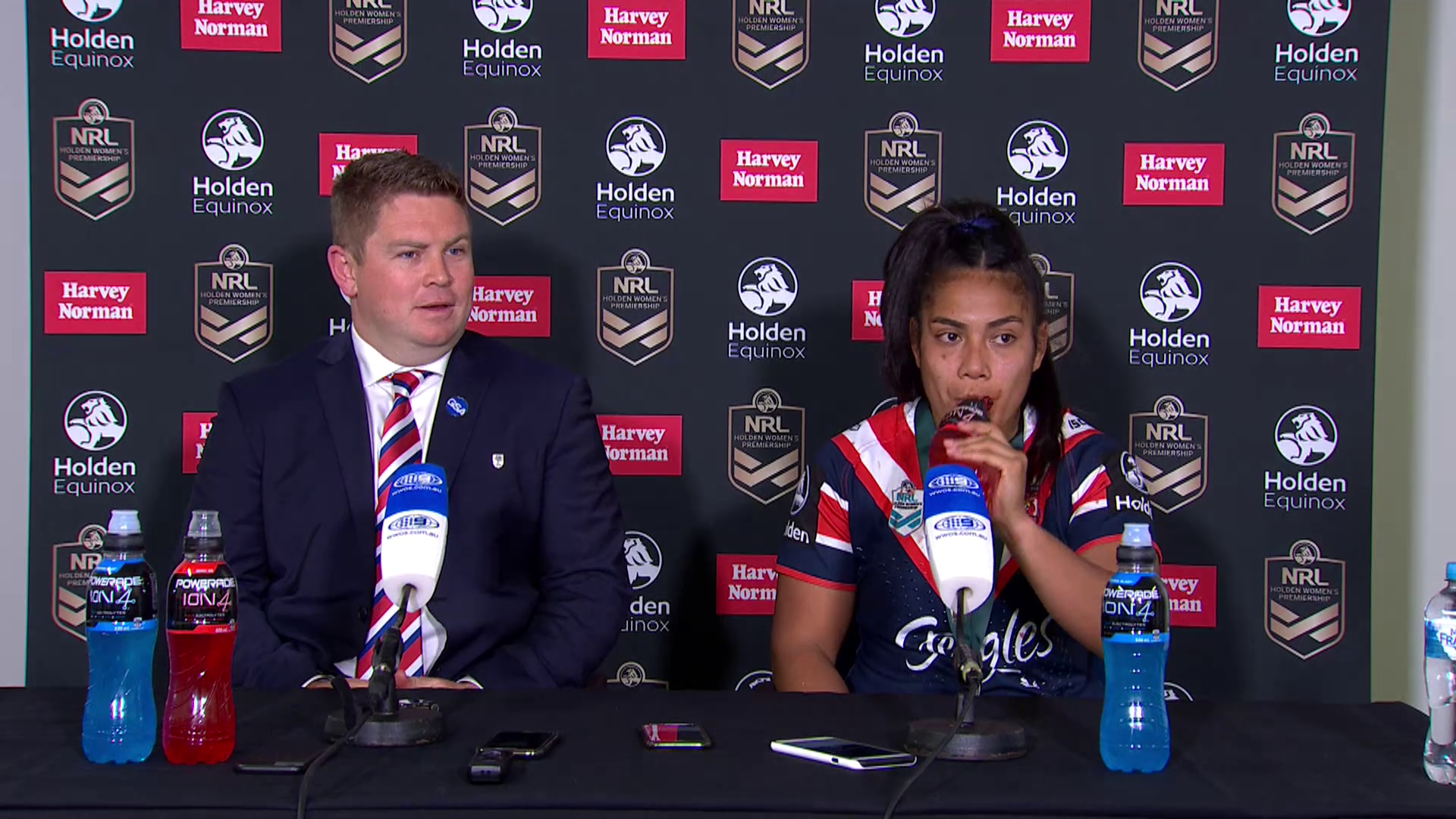 Roosters press conference: NRLW Grand Final
